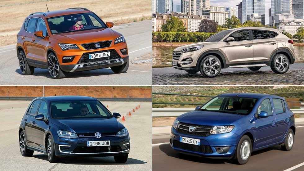 Los 10 coches y los 10 SUV más vendidos en agosto