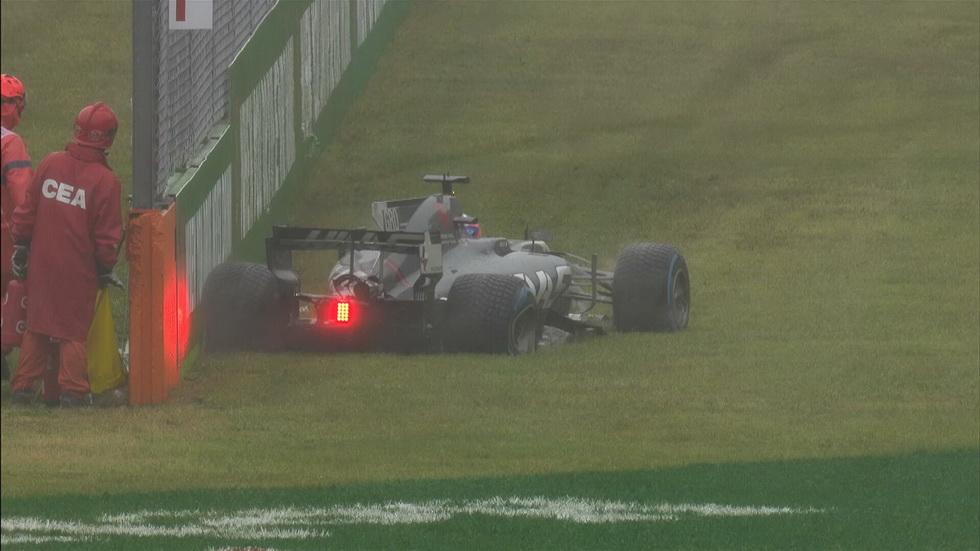 GP de Italia: se interrumpe la calificación por la lluvia y accidente de Grosjean