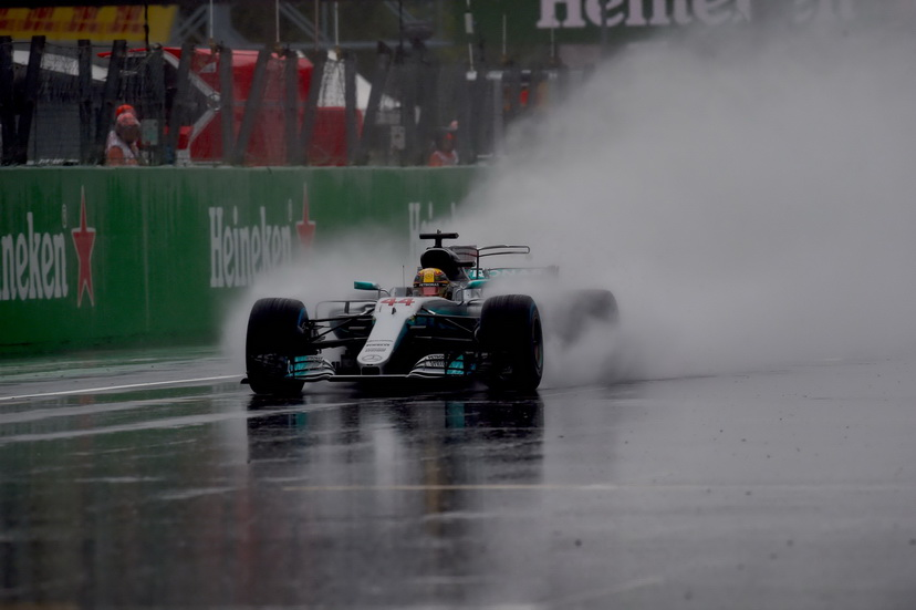 GP de Italia: pole position para Hamilton bajo la intensa lluvia