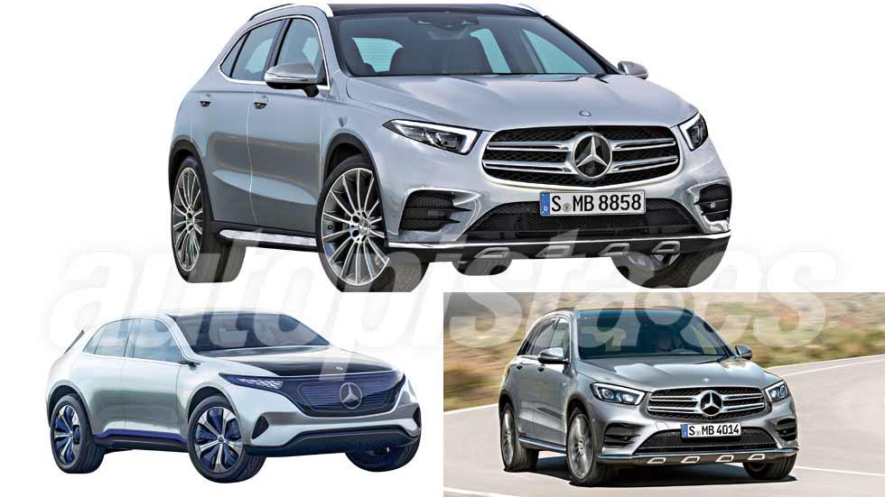 Revista Autopista 3020: así serán los SUV Mercedes GLA Coupé, GLB, GLE...