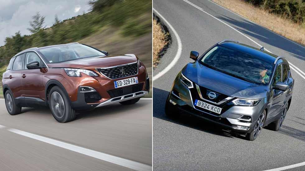 Nissan Qashqai 1.2 DIG-T vs Peugeot 3008 1.2 Puretech. ¿Qué SUV interesa más?