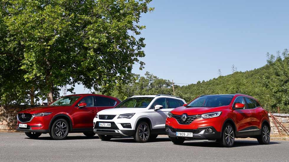 Seat Ateca, Mazda CX-5 y Renault Kadjar: elegimos el mejor SUV de gasolina