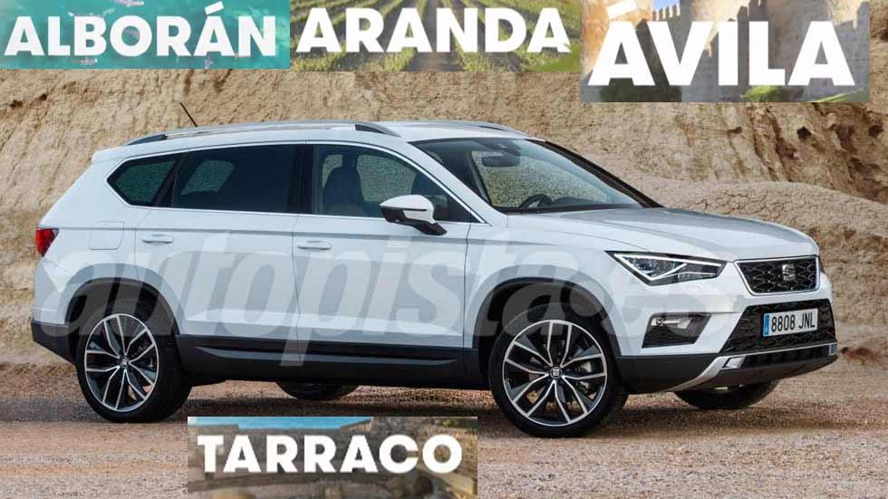 El nuevo SUV grande de Seat se llamará Alborán, Aranda, Ávila o Tarraco