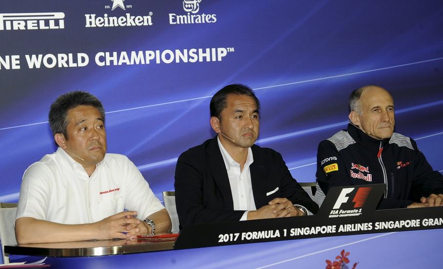 GP de Singapur: Honda y Tost en la rueda de prensa de la FIA