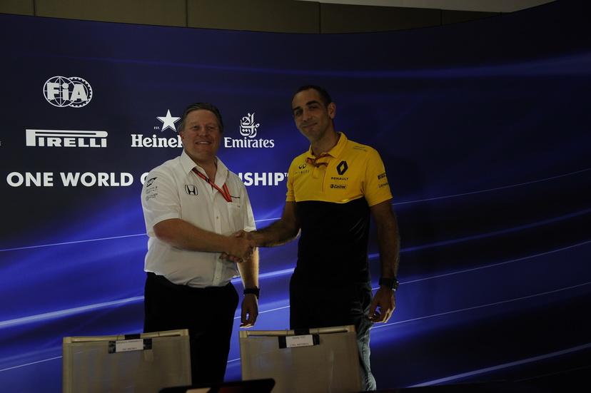 GP de Singapur: Brown, Abiteboul y Horner en la rueda de prensa de la FIA