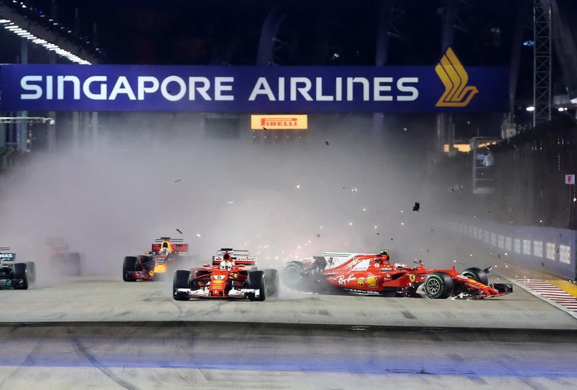 GP de Singapur: victoria inesperada de Hamilton y Sainz ¡cuarto!