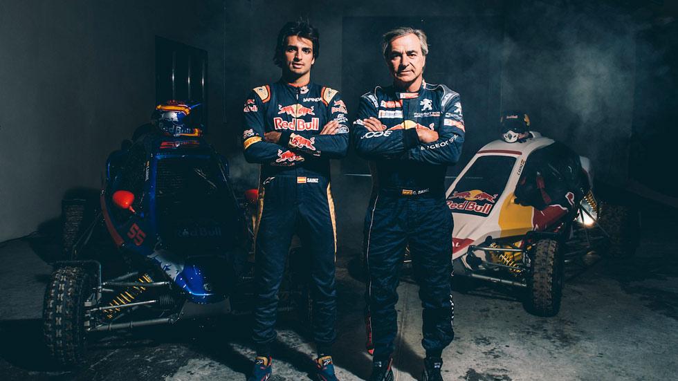 Sainz vs Sainz: ¿quién es más rápido? Duelo en car-cross (VÍDEO)