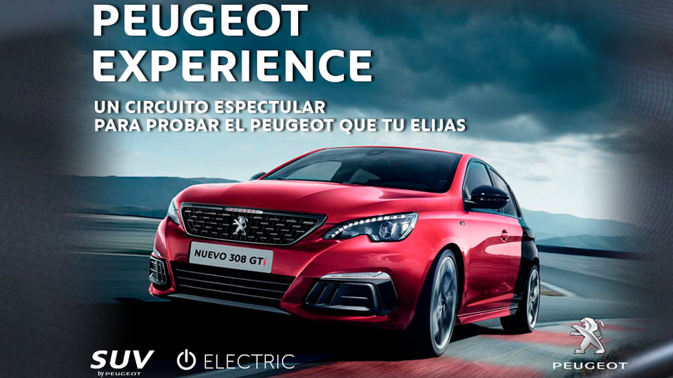 Prueba en CIRCUITO el nuevo Peugeot 308 y los SUV 3008, 5008... ¡Gratis!