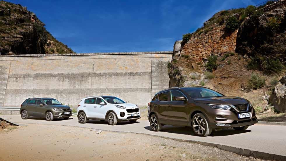 Revista Autopista 3024: Seat Ateca, Nissan Qashqai y Kia Sportage, ¿cuál es mejor SUV?
