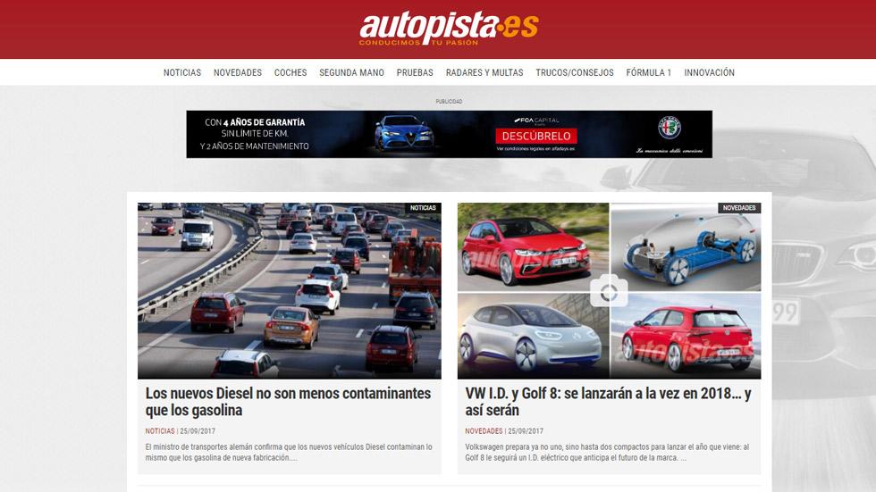 Autopista.es estrena diseño, con más servicios y nuevas herramientas para el usuario