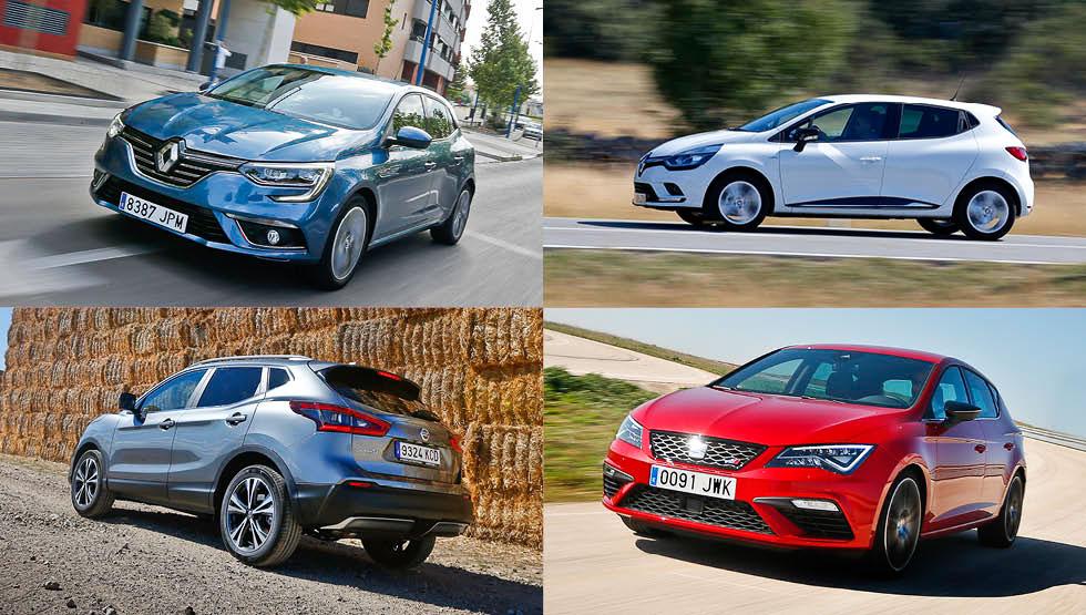 Los 10 coches y los 10 SUV más vendidos en septiembre