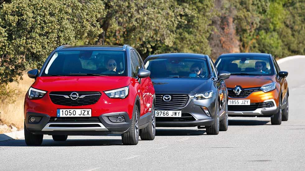 Renault Captur, Opel Crossland X y Mazda CX-3: ¿cuál es el mejor SUV pequeño?