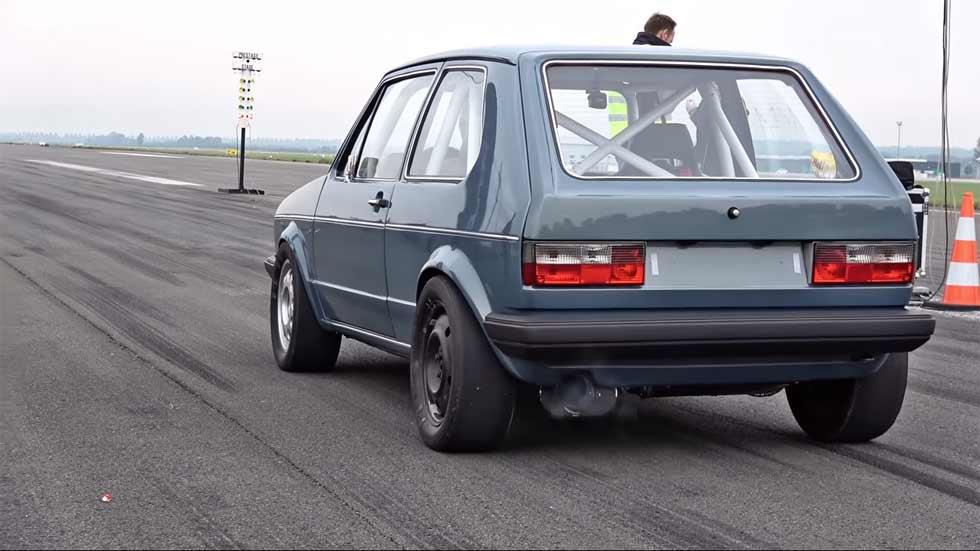 ¡Increíble! Un VW Golf Mk1 de 1.000 CV a más de 300 km/h (VÍDEO)