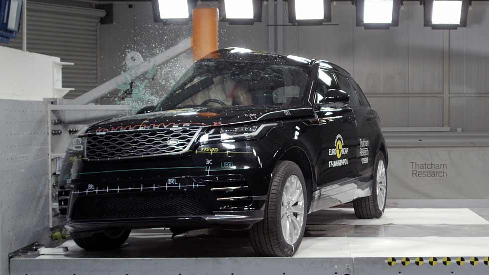 El SUV Range Rover Velar obtiene las 5 estrellas de seguridad Euro NCAP