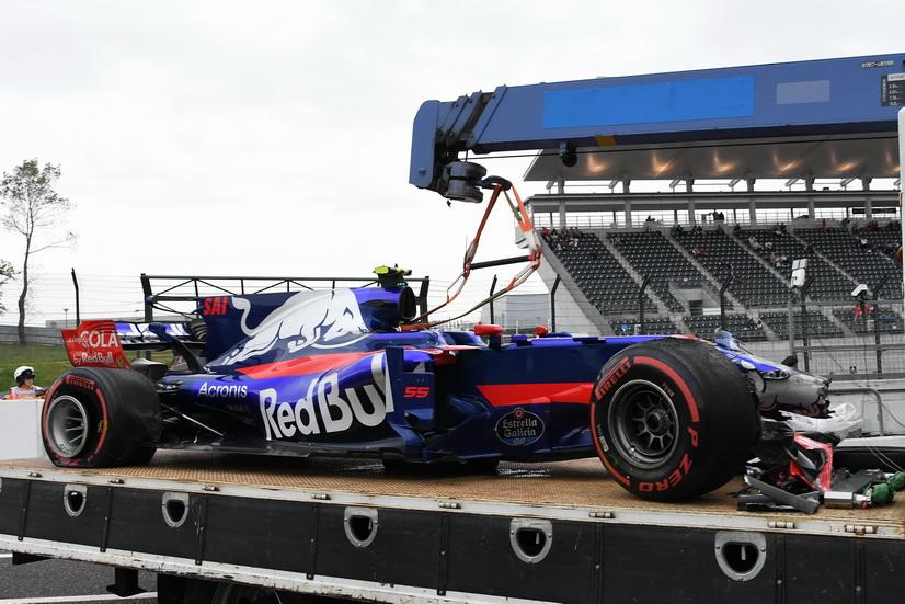 GP de Japón: espectacular accidente de Sainz en la FP1