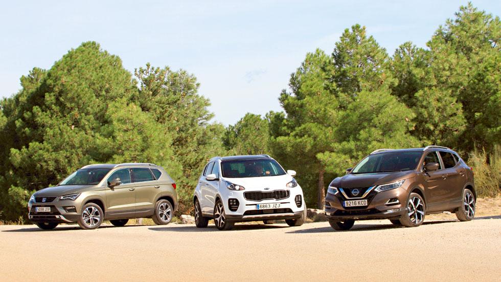 Buscamos el mejor SUV Diesel: Seat Ateca, Nissan Qashqai y Kia Sportage