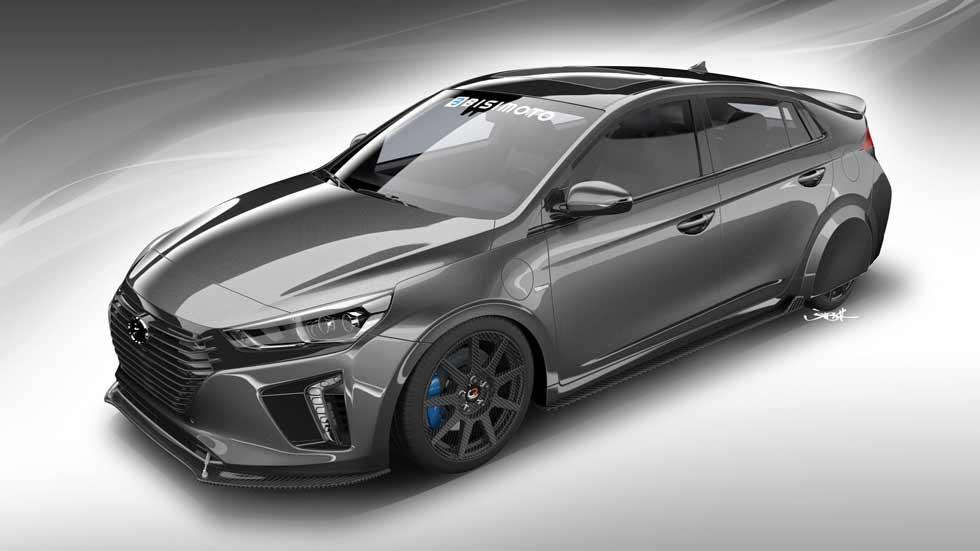 Hyundai HyperEconiq, el Ioniq más bestia en el SEMA 2017