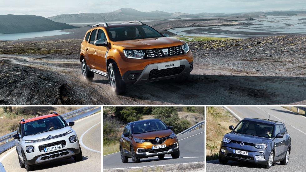 Dacia Duster 2018 frente a sus principales rivales SUV más baratos