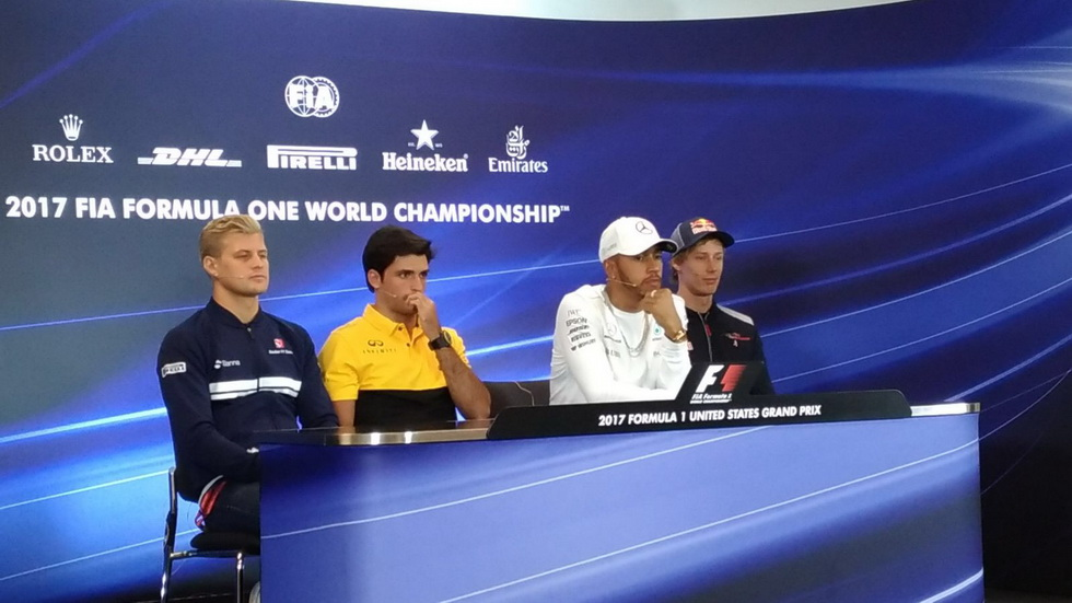 GP de USA: Carlos Sainz en la rueda de prensa de la FIA