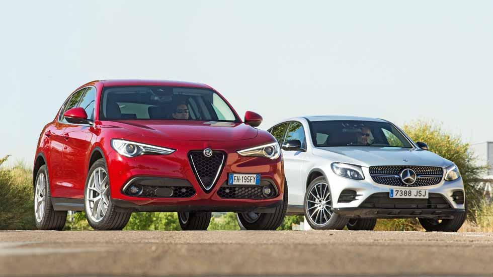 Comparativa SUV: Alfa Romeo Stelvio vs Mercedes GLC Coupé