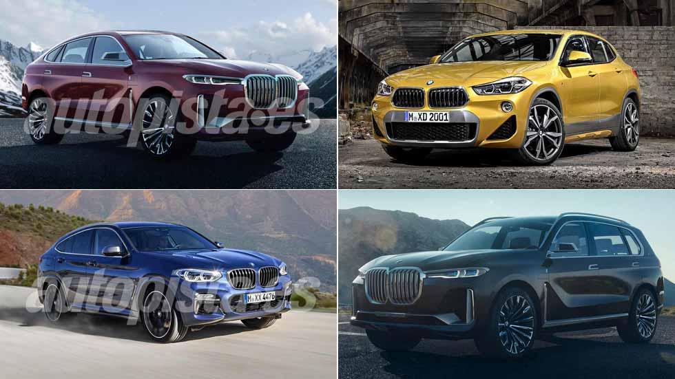 Los nuevos BMW X SUV que vienen: X2, X4, X7, X8...