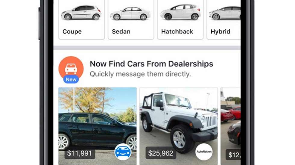 Facebook también venderá coches: se asocia a concesionarios