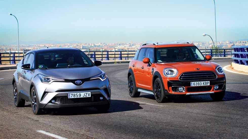 Toyota C-HR vs Mini Countryman: a prueba dos SUV con mucho estilo