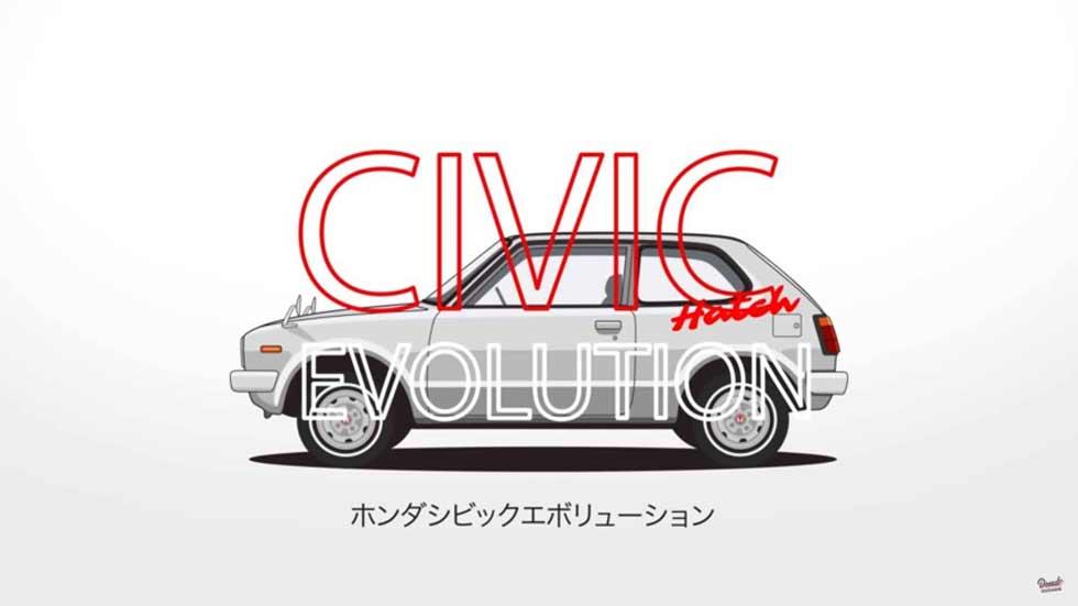 Honda Civic: 44 años de evolución en poco más de 1 minuto (VÍDEO)