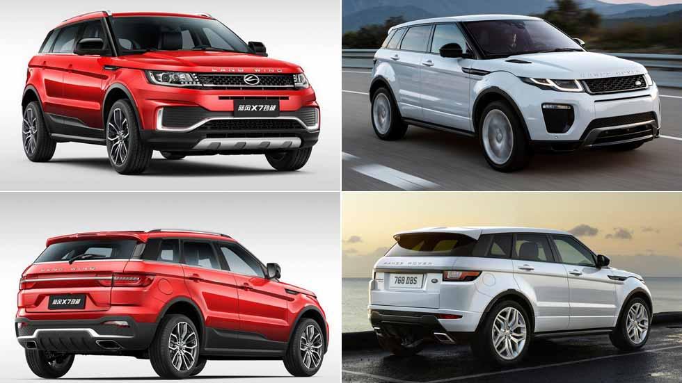 Landwind X7 2018: el SUV chino sigue siendo una copia del Range Rover Evoque