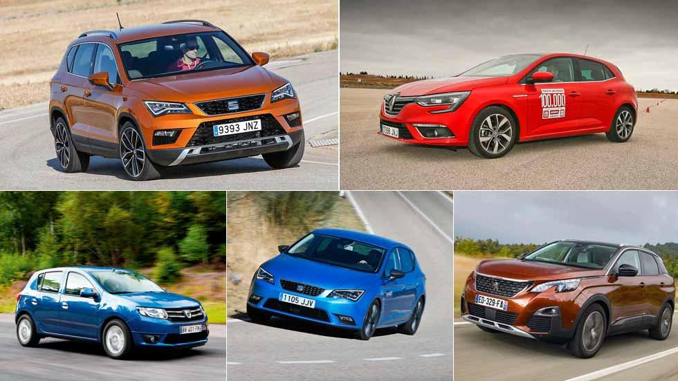 Los 10 coches y los 10 SUV más vendidos en octubre