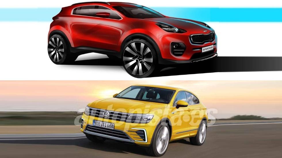 Kia Sportage Coupé vs VW Tiguan Coupé: el gran duelo SUV que viene