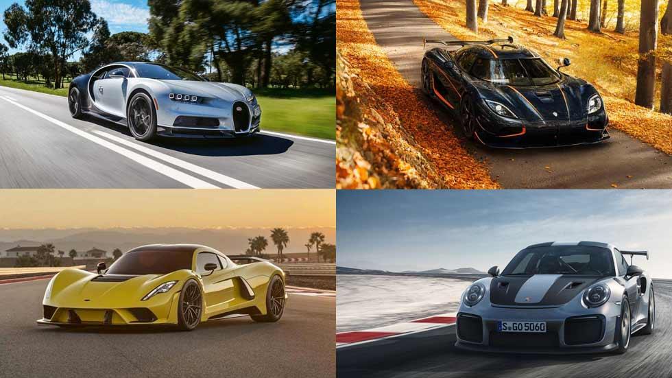 Los coches más rápidos del mundo: modelos que superan los 320 km/h