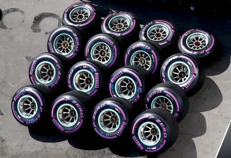 Ocho compuestos de neumáticos para 2018