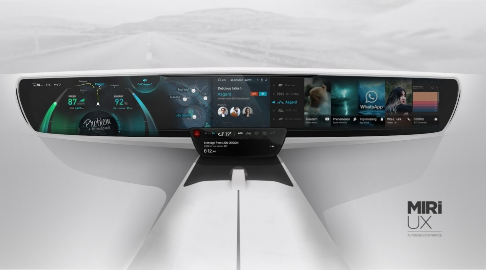 Así será el salpicadero de los coches del futuro