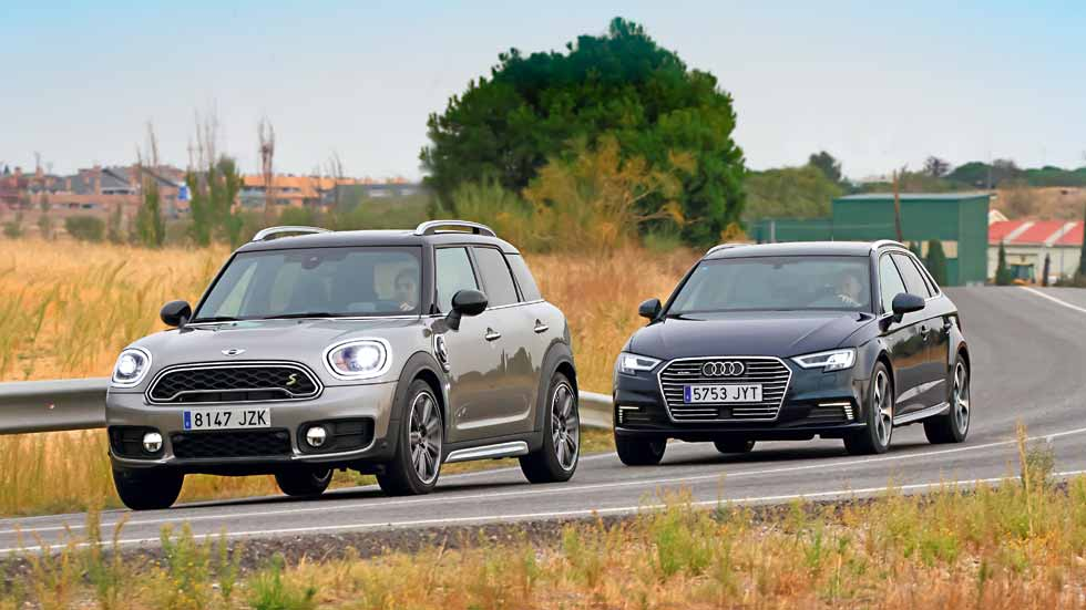 Comparativa: Audi A3 vs Mini Countryman, duelo de híbridos enchufables