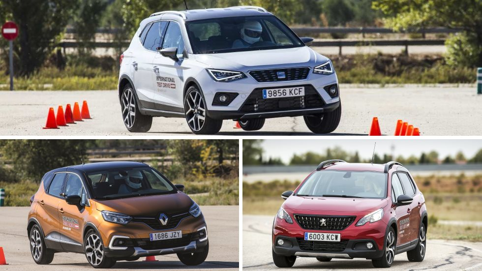 seat arona vs renault captur vs peugeot 2008 cu l es el mejor suv utilitario pruebas de. Black Bedroom Furniture Sets. Home Design Ideas