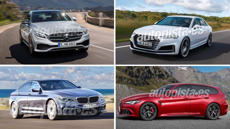 El futuro de las berlinas medias: A4, Serie 3, Clase C, Giulia Sportwagon…