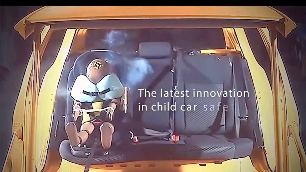 Así es la primera silla infantil para el coche con airbag (VÍDEO)