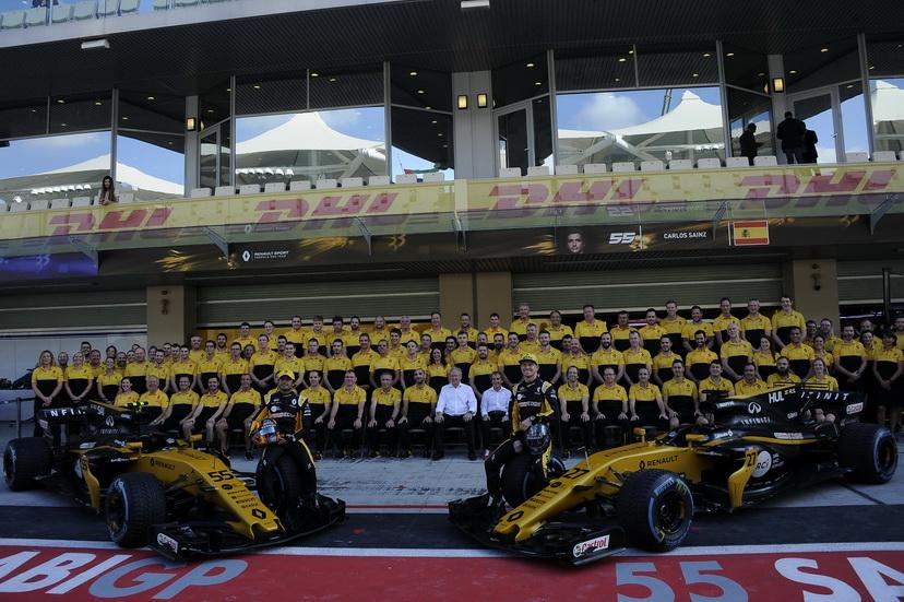 GP de Abu Dabi: foto de equipo en Renault