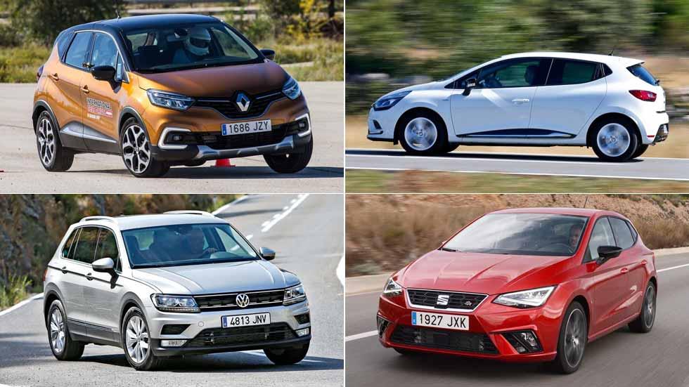 Los 10 coches y los 10 SUV más vendidos en noviembre