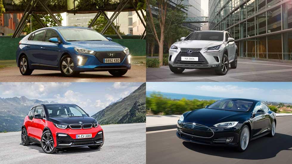 Los 10 eléctricos e híbridos más vendidos en lo que llevamos de año