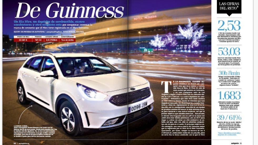 AUTOPISTA supera el récord Guinness con el Kia Niro