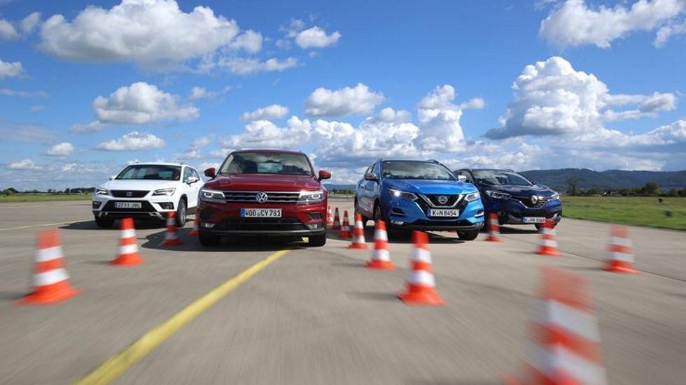Nissan Qashqai, Renault Kadjar, Seat Ateca y VW Tiguan: ¿cuál es mejor SUV?