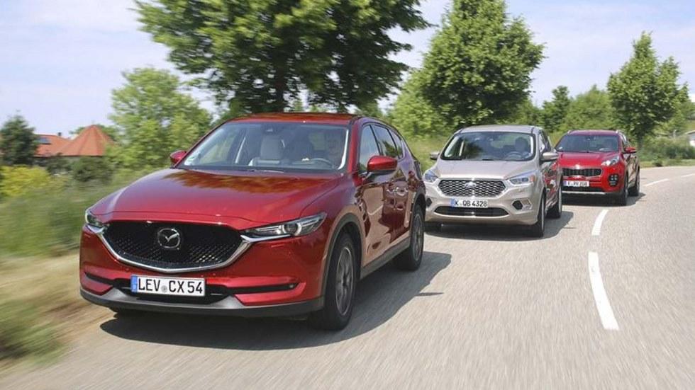 Ford Kuga, Kia Sportage y Mazda CX-5: ¿cuál es mejor SUV Diesel y 4x4?