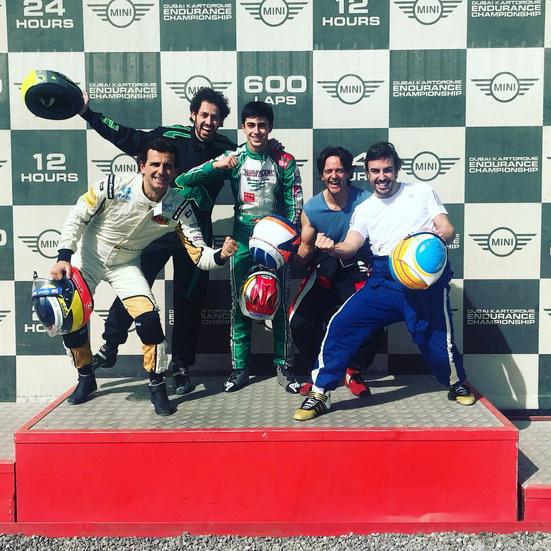 Alonso corre las 24 Horas de Karting de Dubai