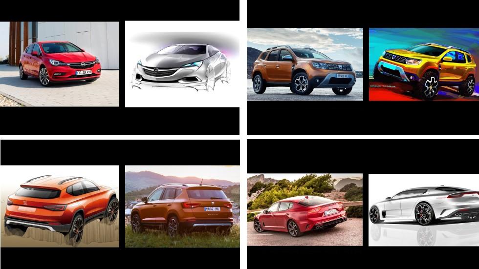 Del concepto a la serie: ¿cuánto cambian los coches desde sus dibujos?