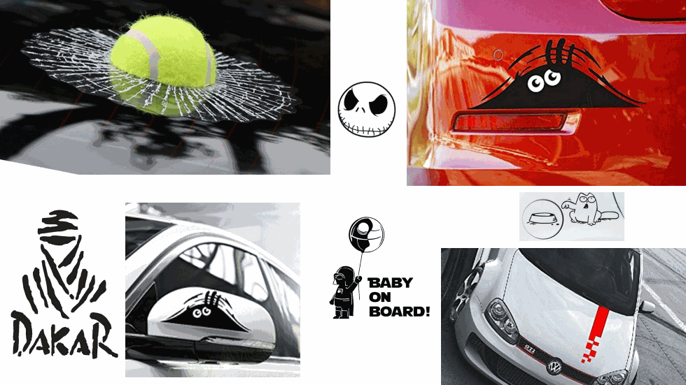 Las mejores pegatinas y adhesivos para tu coche