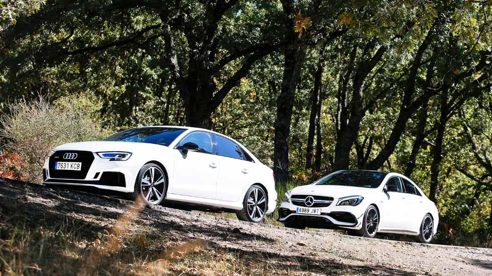Audi RS 3 Sedán vs Mercedes-AMG CLA 45, a prueba dos coches prácticos y deportivos