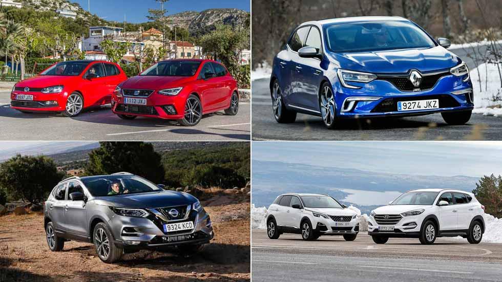 Los 10 coches y los 10 SUV más vendidos en 2017
