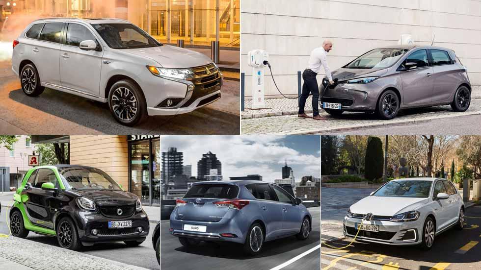 Los 5 coches híbridos, híbridos enchufables y eléctricos más vendidos en España en 2017